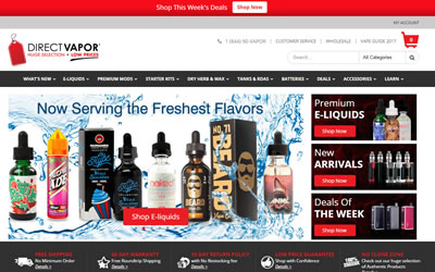 Direct Vapor Web Design