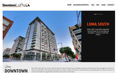 Downtown Lofts Los Angeles Web Design