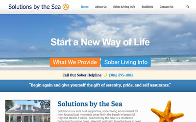Solutions by the Sea Web Design