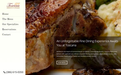 Toscana Restaurant Web Design