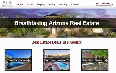 Valley Real Estate Pro Web Design